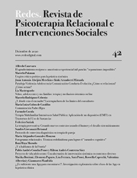 REDES. Revista de Psicoterapia Relacional e Intervenciones Sociales. Diciembre 2020